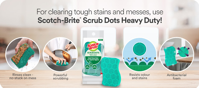 Scotch-Brite Scrub Dots Sponge