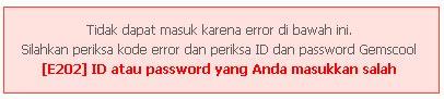 Error Gagal Login Gemscool Point Blank Masuk www.gemscool.com