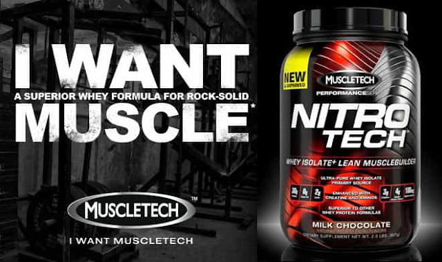 2- MuscleTech NitroTech Pure Whey Protein