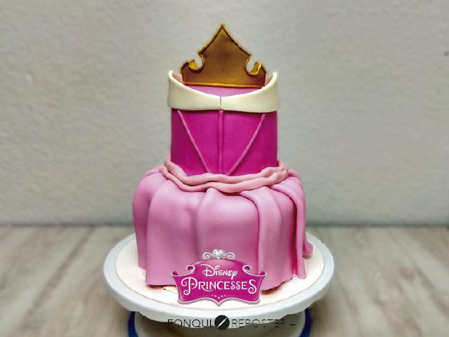 Pastel princesa Disney FonQui repostería
