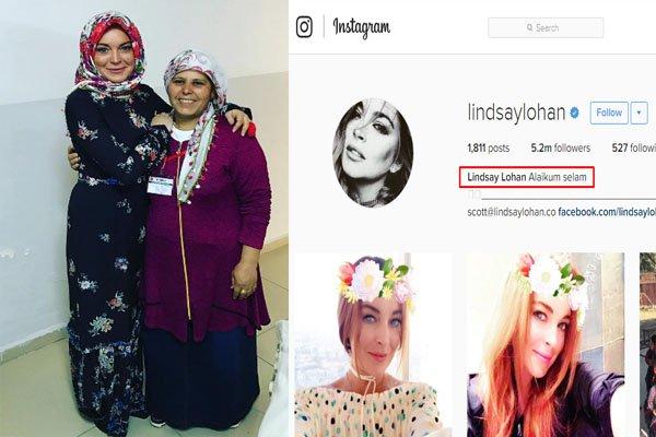 Benarkah Lindsay Lohan telah Menjadi Muslim? Foto Instagramnya pakai Hijab dan Ucapkan Salam