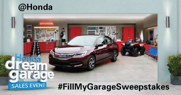 Pacific Honda Blog Win A Honda Car Through Fill My Garage
