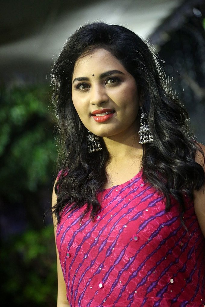 Actress Srushti Dange At Oy Ninne Audio Launch Photos