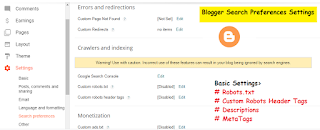 Blogger Search Preferences Settings | Blogspot Search Preferences Settings Enable Settings
