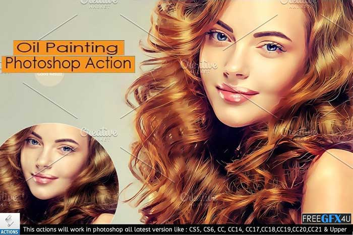 Pro Oil Painting Photoshop Action