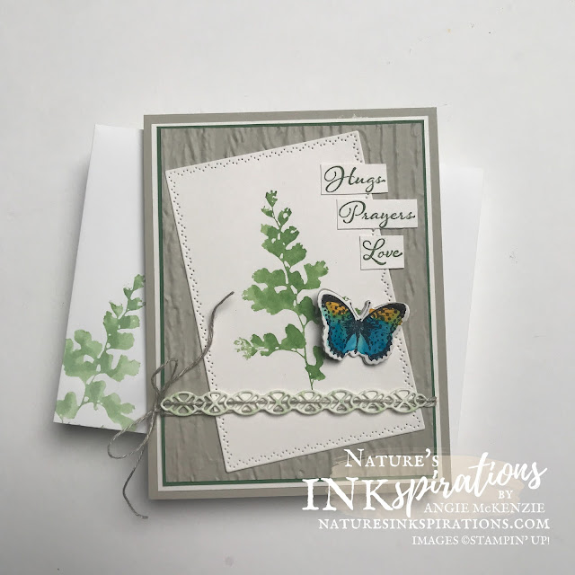 By Angie McKenzie for the Crafty Collaborations Technique Tuesday Blog Hop; Click READ or VISIT to go to my blog for details! Featuring Stampin' Up! Inks with Water Painters, the Positive Thoughts Stamp Set and the Nature's Thoughts Dies from the 2021-2022 Annual Catalog; #getwellcard #stamping #papercrafting #techniquetuesday #techniquetuesdaybloghop #positivethoughts #naturesthoughts #watercoloring #2021annualcatalog #naturesinkspirations #makingotherssmileonecreationatatime #diecutting #cardtechniques #stampinup #diy #handmadecard #orangeoakleafbutterfly #deadleafbutterfly