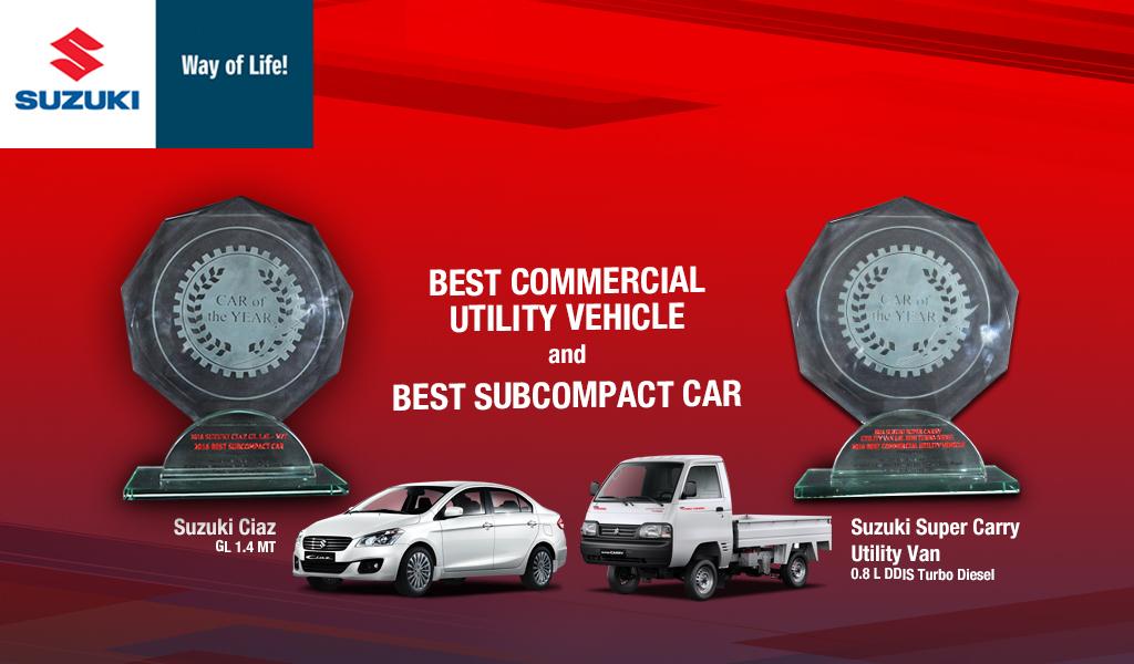 Suzuki makes it a double at the CAGI Awards 2016
