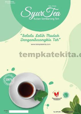 Download Desain Kemasan Produk Minuman Teh Coreldraw Dan Photoshop