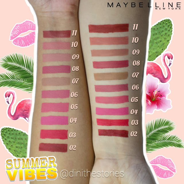 MAYBELLINE SENSATIONAL LIQUID LIPSTICK ALL COLOR SWATCHES
