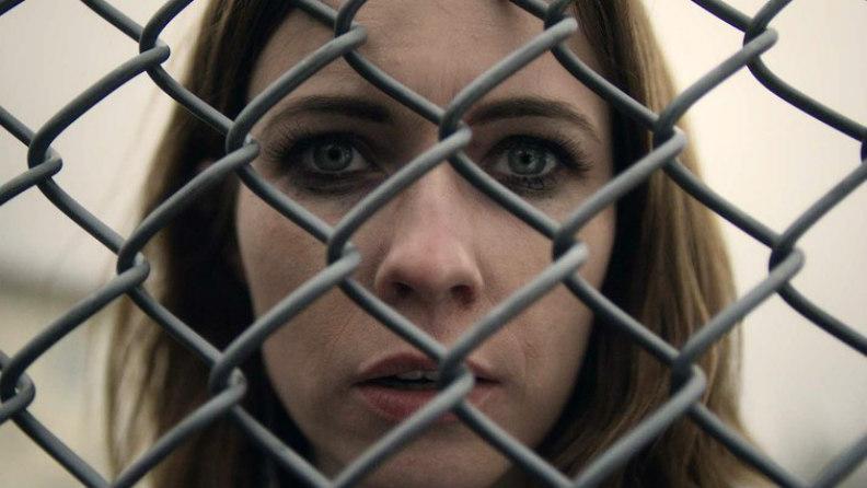 La protagonista de Fangar en un fotograma de la serie