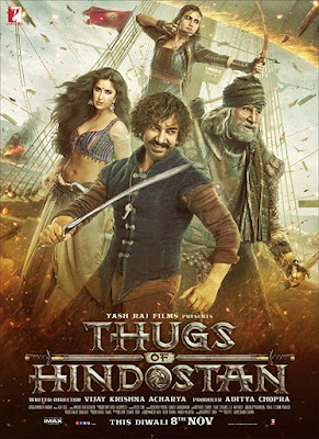 Thugs of Hindostan 2018 Hindi 720p BRRip 800Mb ESub HEVC x265