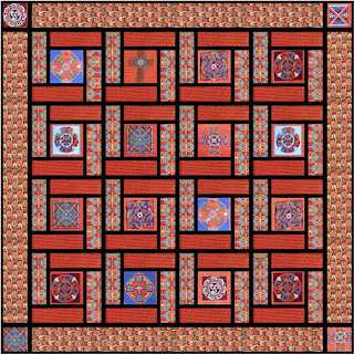 Free pattern day!  Stained Glass quilts