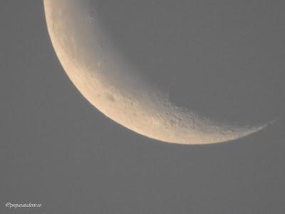 Luna zoom cu Nikon,