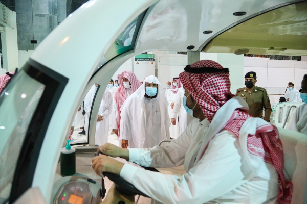 President Sudais inaugurates carriages for the elderly in the Grand Mosque
