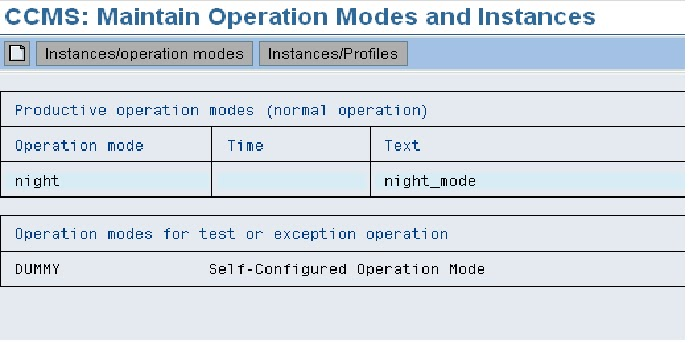 Sap Basis Tutorials How To Delete Operation Modes In Sap