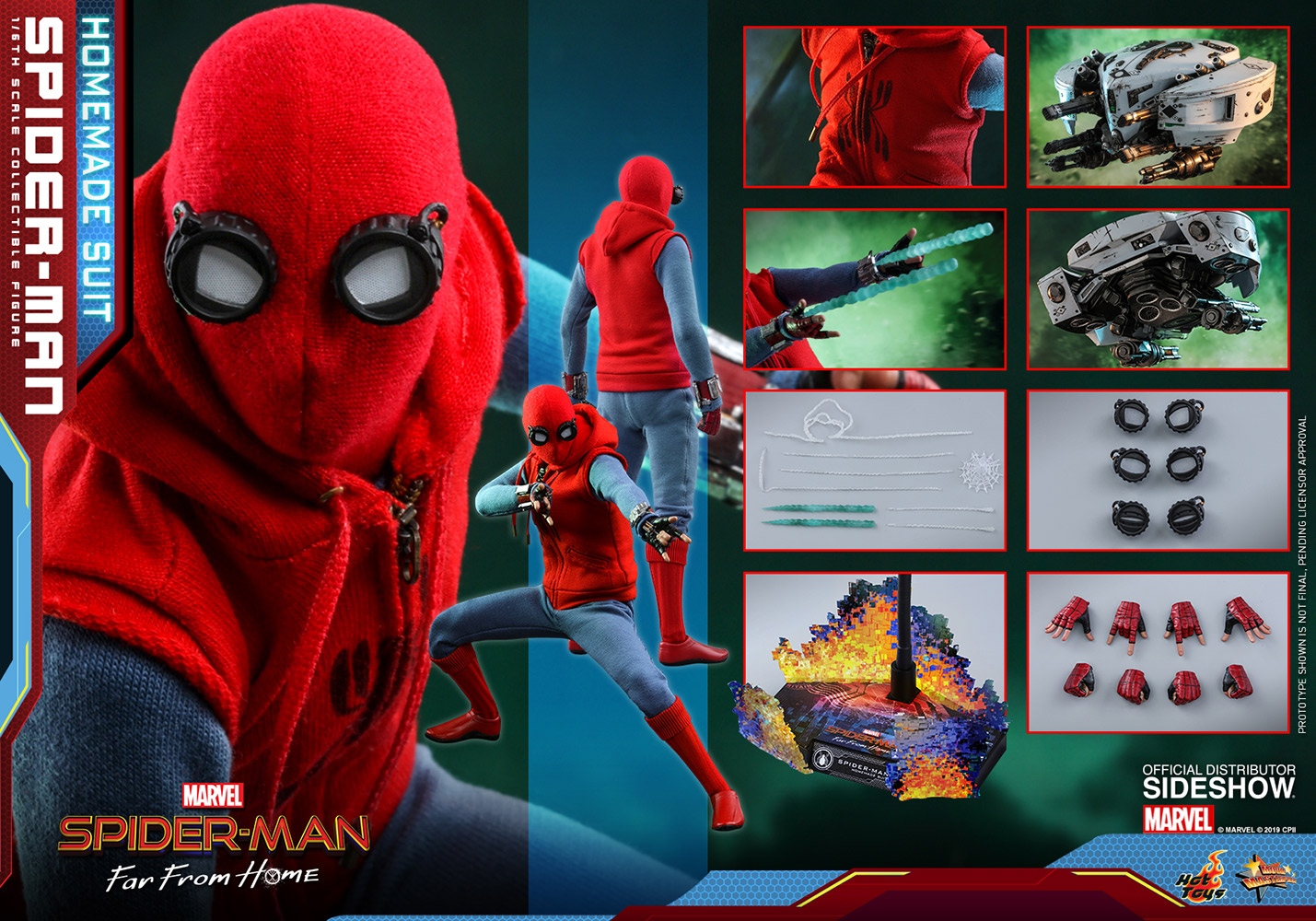 Super Punch Hot Toys Spider-Man With Mysterio Drone -2763