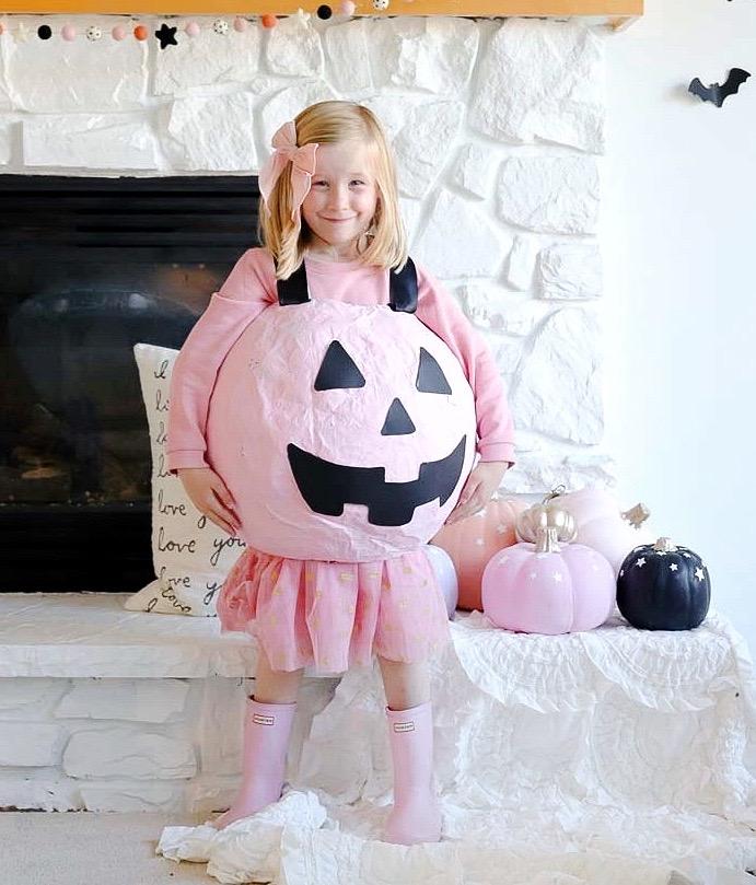 DIY Halloween Costume Pink Pumpkin Bucket