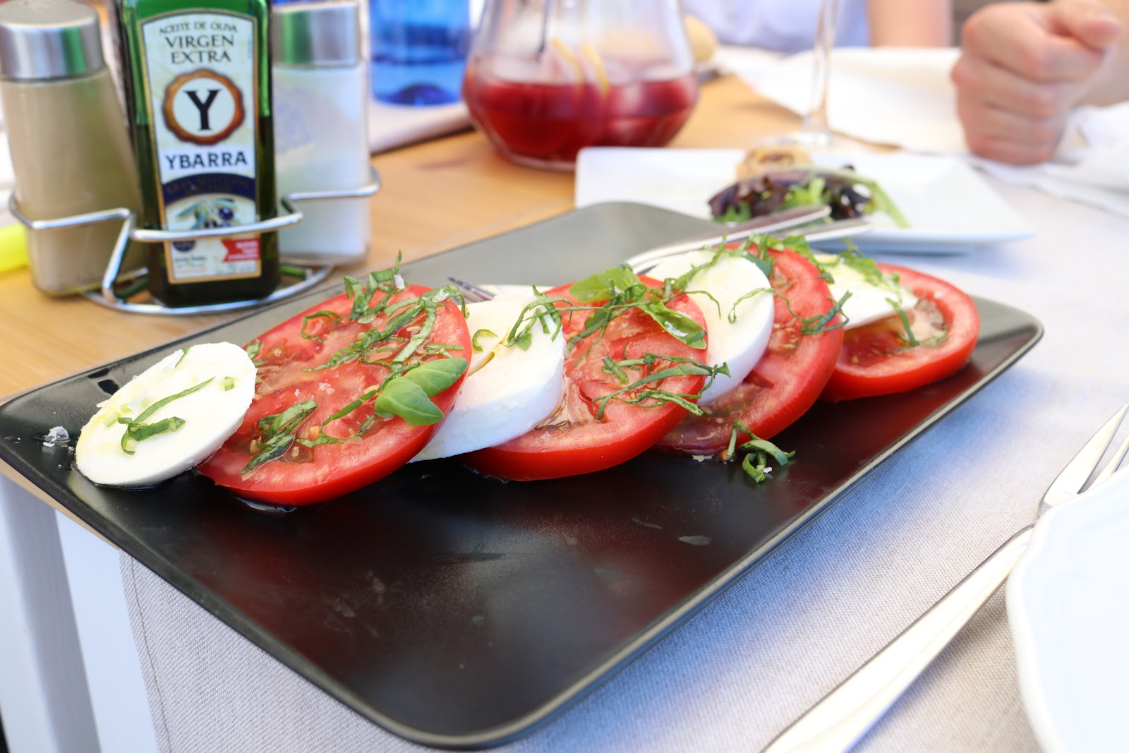 Mozerella and Tomatoes, Mar Sana, Sotogrande, Spain
