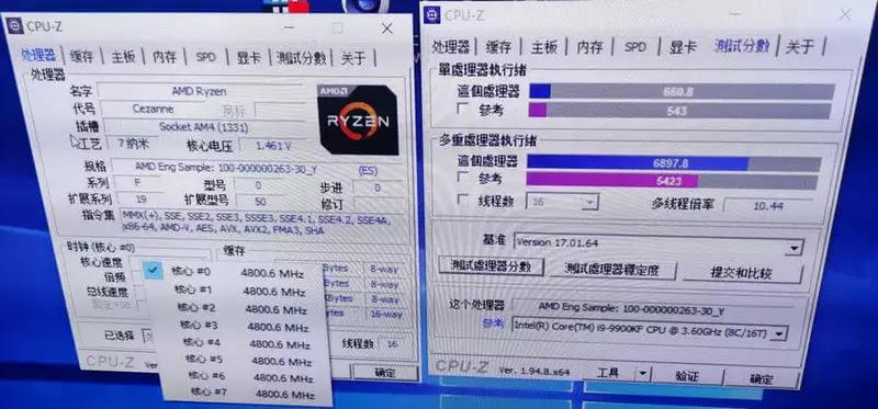 Ryzen 7 5750G'yi CPU-Z'de test etme