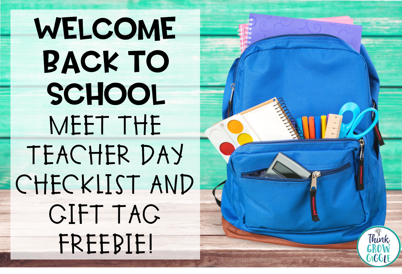 back to school, freebie, welcome, meet the teacher, back to school checklist