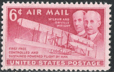 Wilbur & Orville Wright Airmail U.s. Postage Stamp