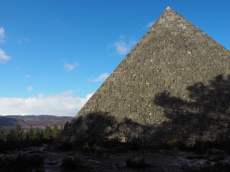 Prince Albert's pyramid on the Balmoral cairns walk