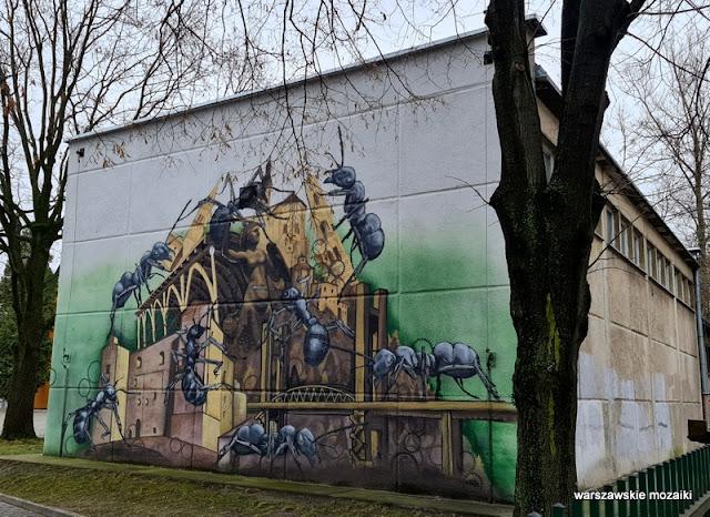 Warszawa Warsaw streetart Skuha Ochota szkoła gimnazjum warszawskie murale