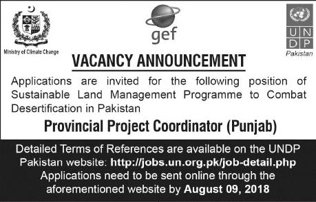 Jobs In United Nation Development Program UNDP 27 July 2018