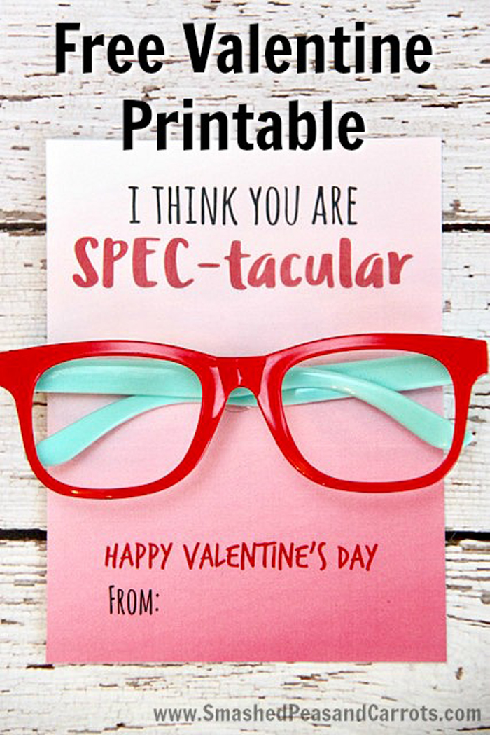 Non-Candy Valentine Printables | Over 20+ free printable Valentines that are perfect for non-candy treats!