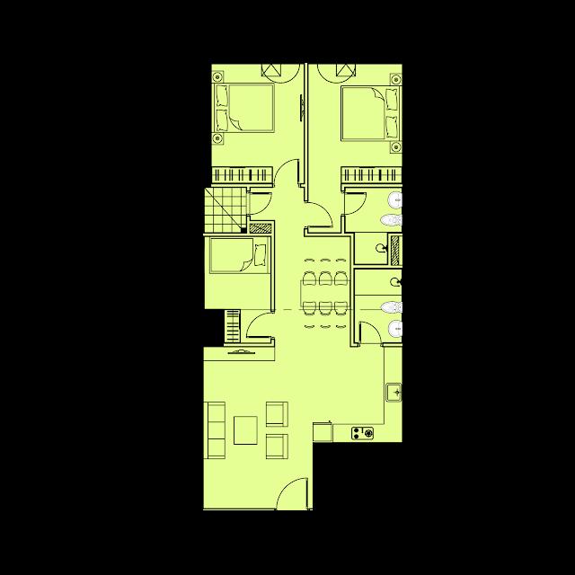 Thiết kế căn hộ B5 - 85m2 tòa River1 EuroWindow River Park