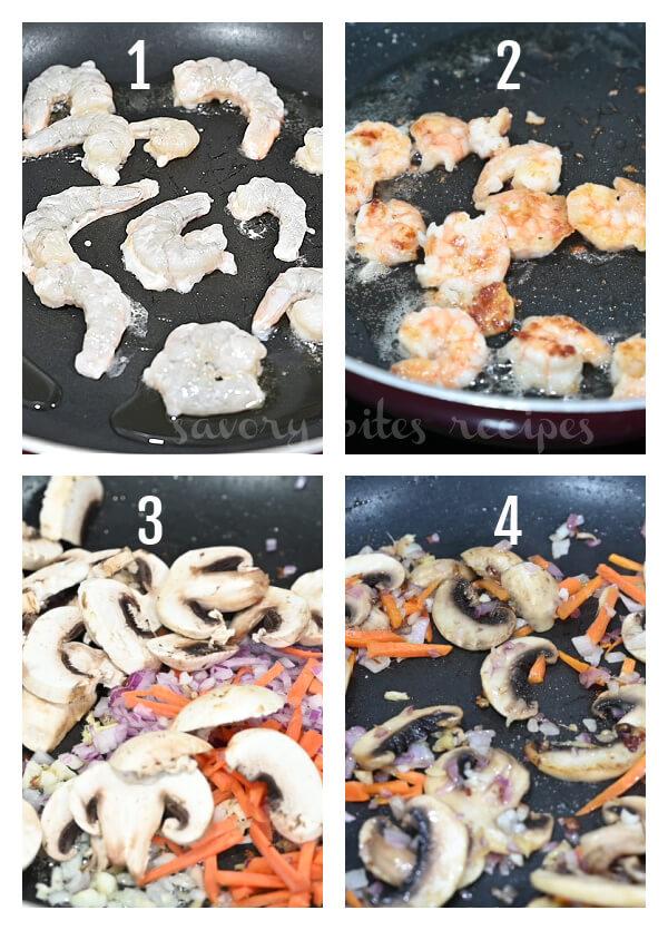 steps to make sesame garlic ramen noodles