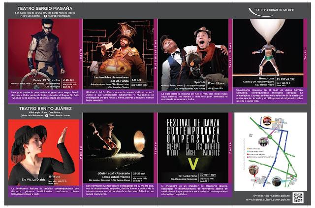 Vuelven las actividades a los Teatros de la Ciudad de México a partir del 2 de Octubre
