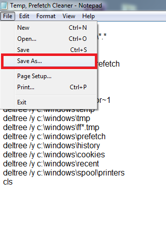 How to Save Batch Script