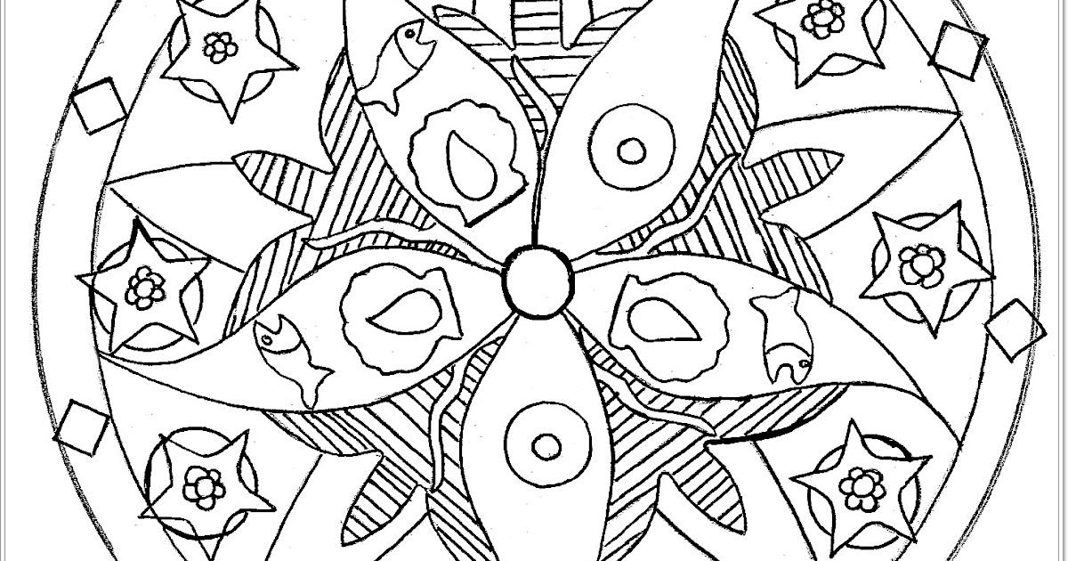 mandalas mit tierenmalvorlagenseestern mandala  free