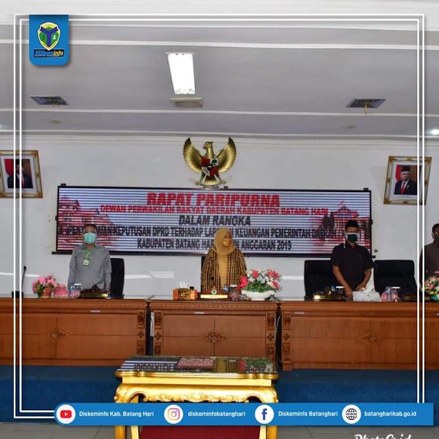 Bupati Hadiri Rapat Paripurna DPRD Kabupaten Batang Hari