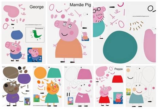 Molde Peppa Pig Para Imprimir Como Fazer
