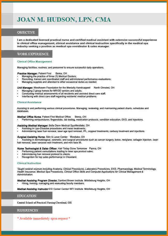 Resume For Job Vacancy
