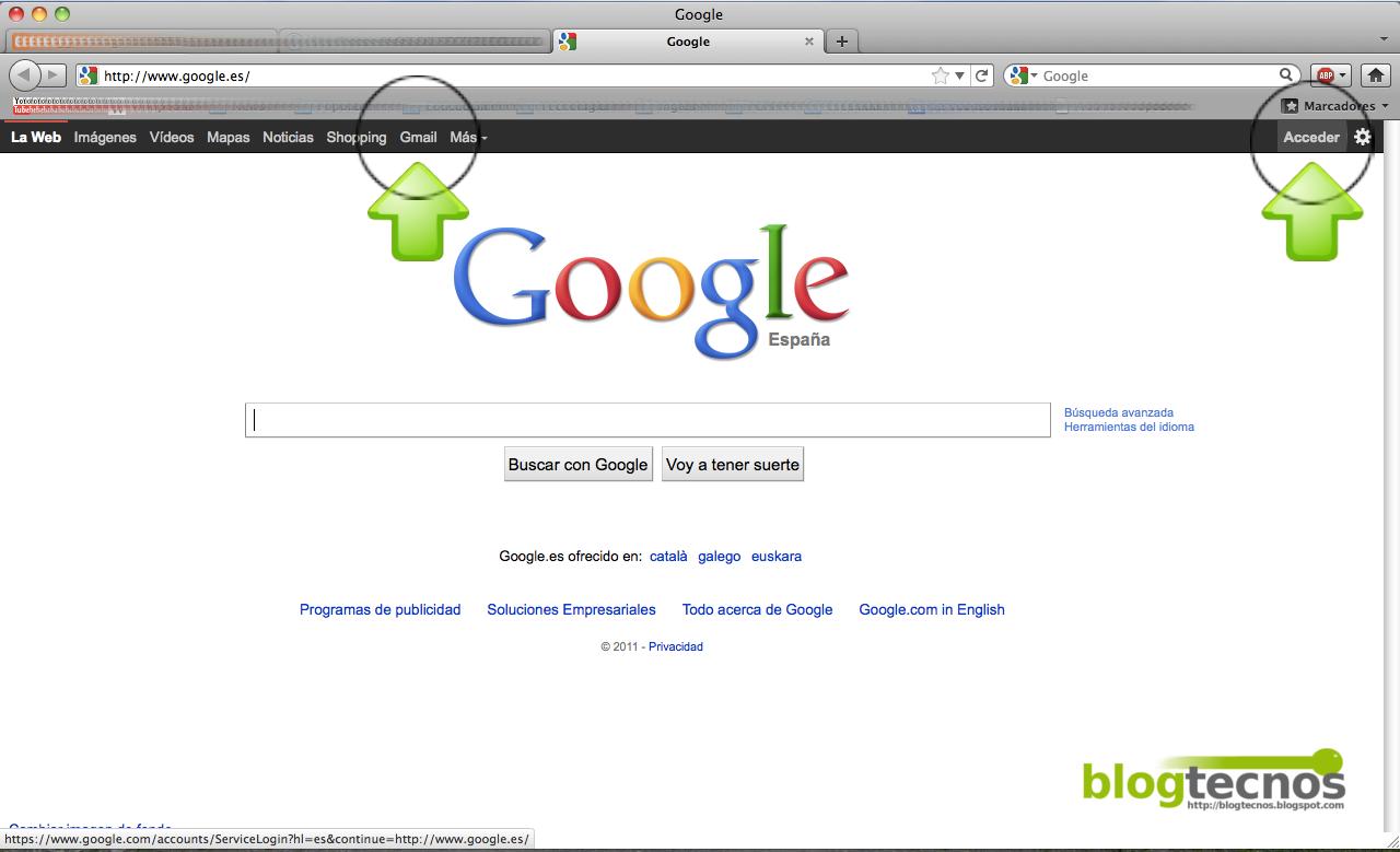 Blog Tecnos Abrir Una Cuenta En Gmail De Google