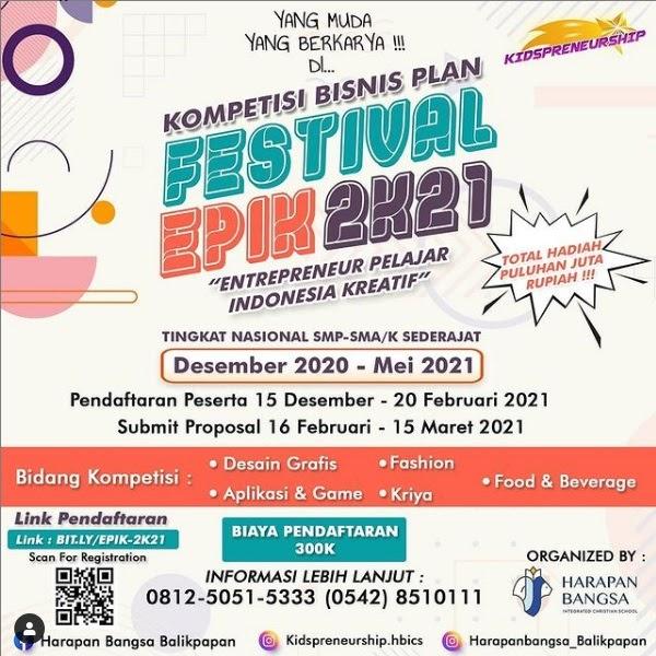 "Kompetisi Bisnis Plan di Kidspreneurship ""Festival EPIK ..."