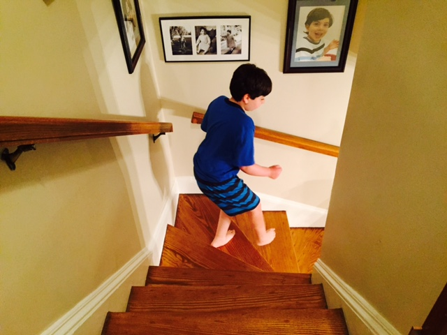 Pictures Of Kids Going Downstairs