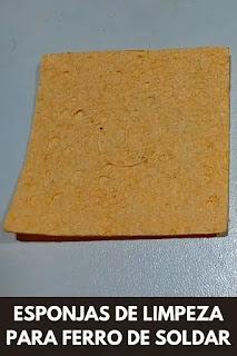 Esponjas de Limpeza para Ferro de Soldar