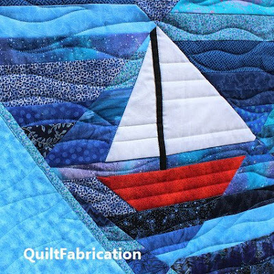 Seafarer quilt pattern by QuiltFabrication