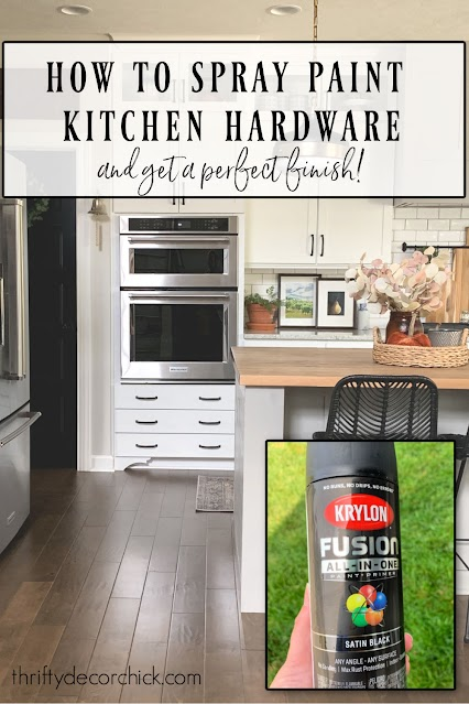 How To Spray Paint Kitchen Hardware Thrifty Decor Chick
