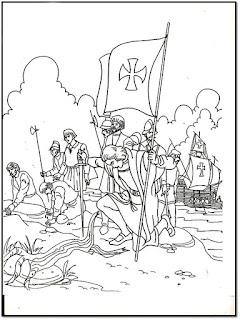 Columbus day dibujo para colorear