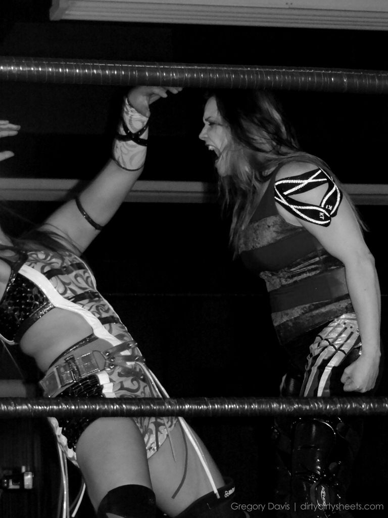 Black and white wrestling dirty