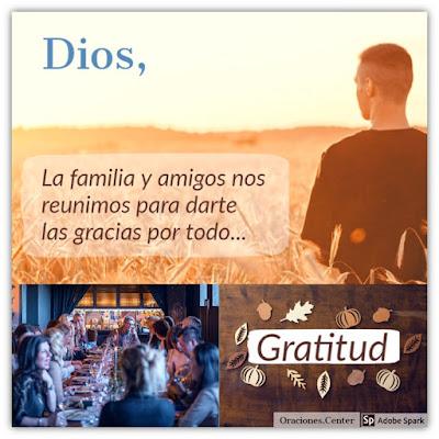 Oración para el Día de Acción de Gracias