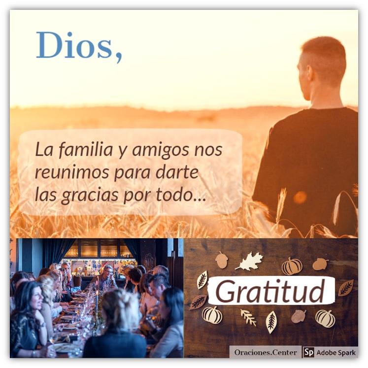 Padre Nuestro Oración para el Día de Acción de Gracias 2020