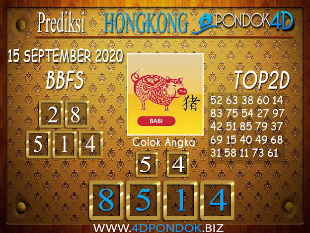 Prediksi Togel HONGKONG PONDOK4D 15 SEPTEMBER 2020