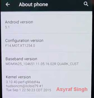 kernel version - Unlock Bootloader Motorola Droid Turbo