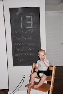 Tafelbild 13 Monate Brudi